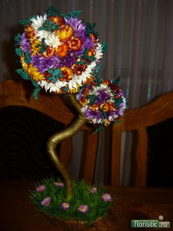 Мастер класс по флористике сухоцветы
