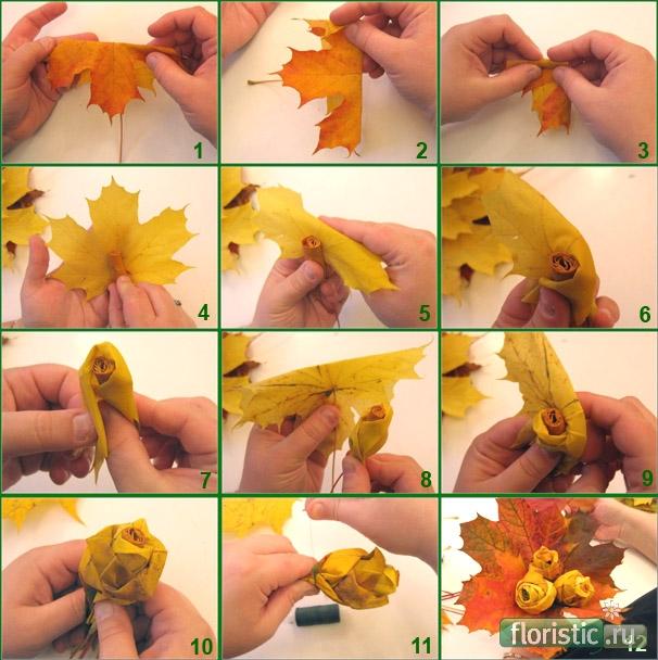Поделки на тему осень в детский сад своими руками пошагово в