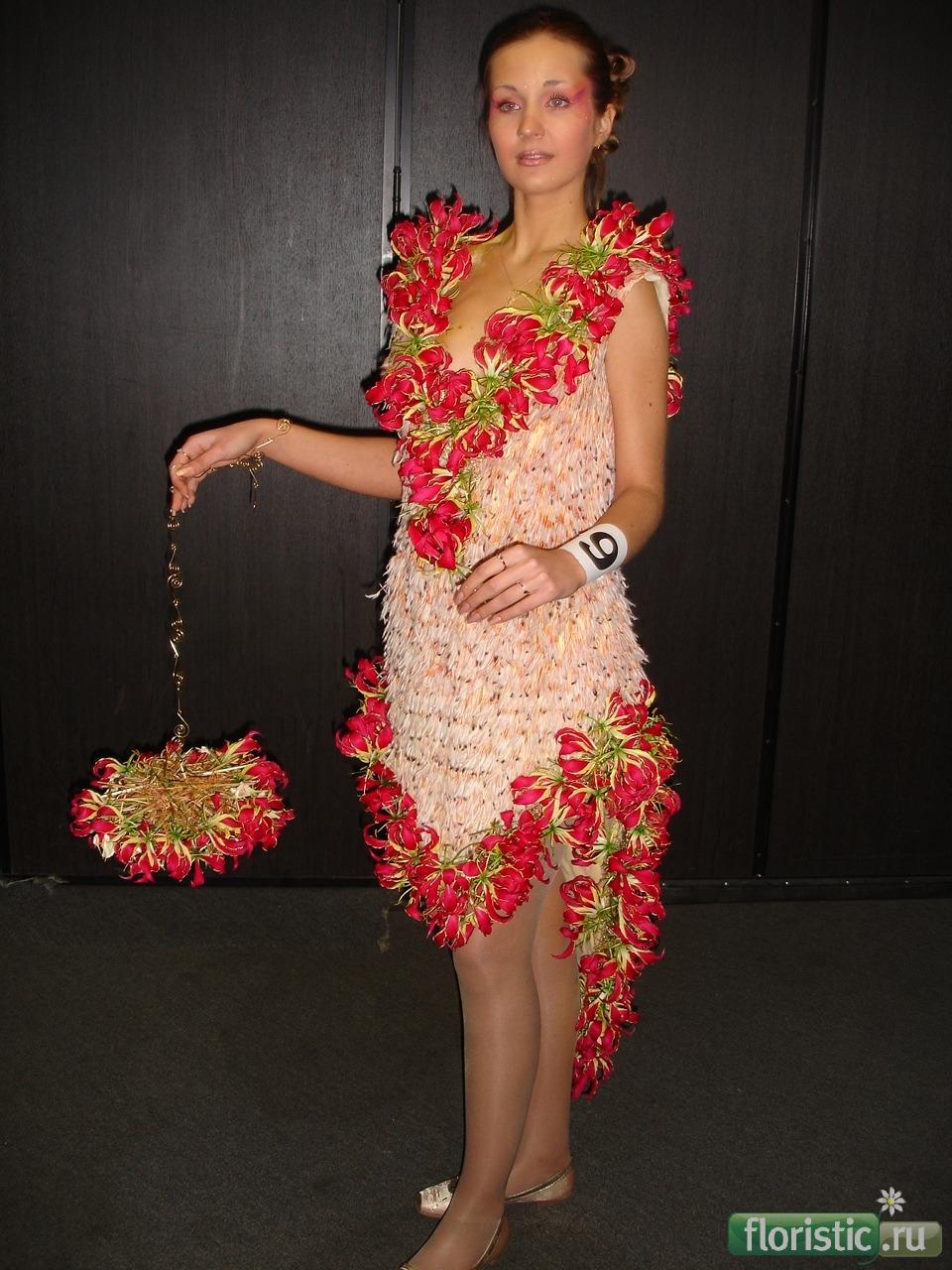 Поделки платья из цветов 87