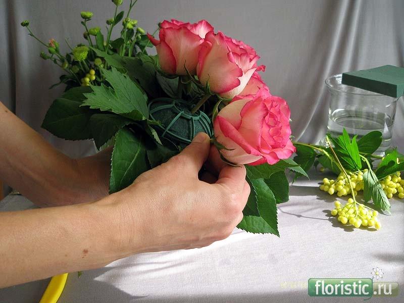 Букет цветов живых цветов как сделать