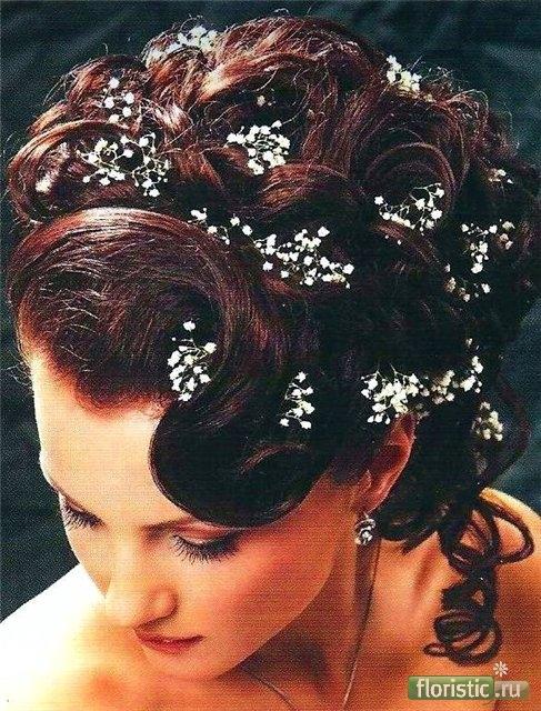 свадебные прически, укладки, украшение прически