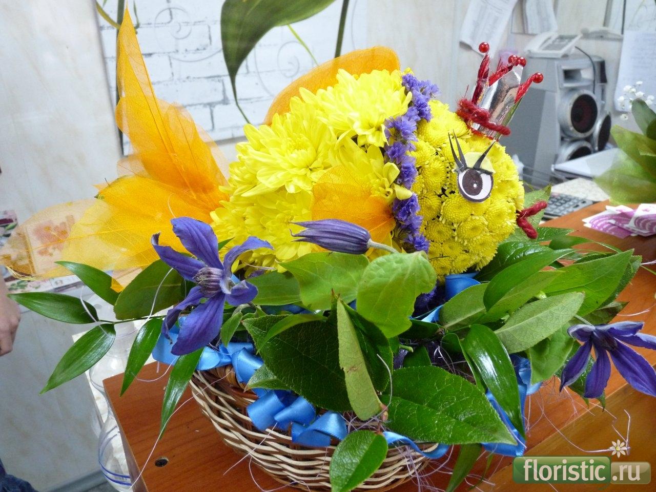 Работа поделки из цветов