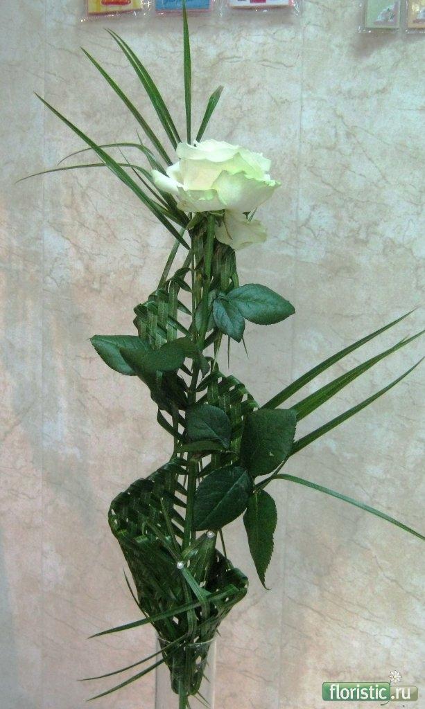 Как красиво оформить одну розу