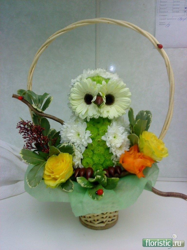 Сделать букет из живых цветов своими руками