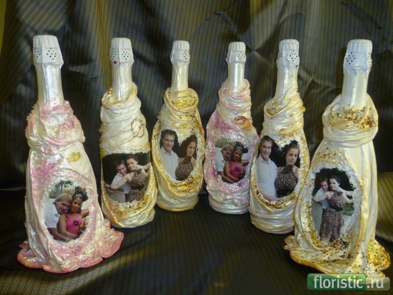 Декупаж бутылок своими руками с фото