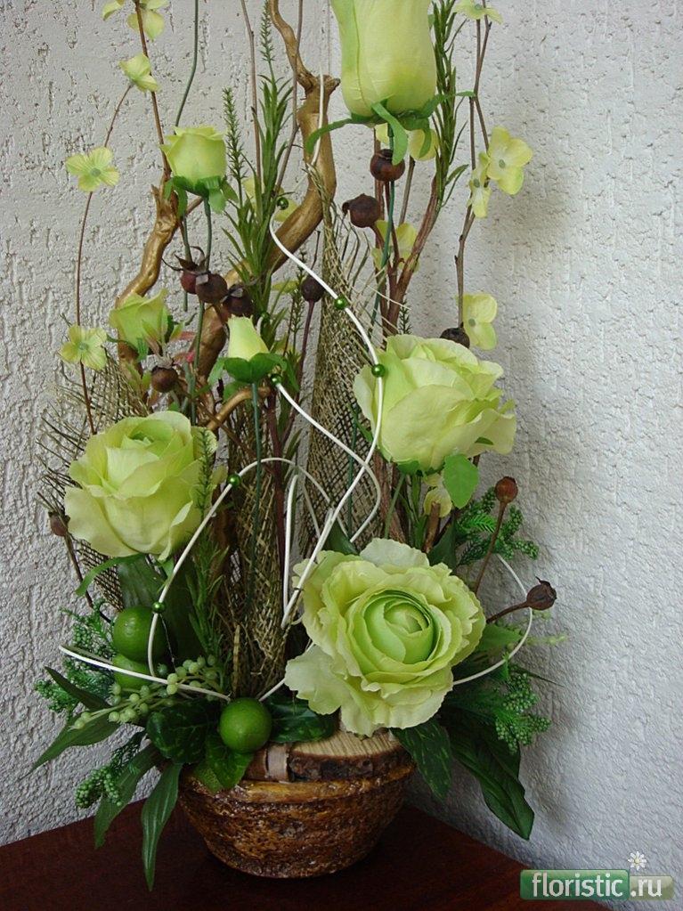 Красивые букеты и композиции из живых цветов (Фото) 94