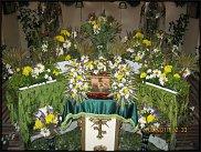 Украшение храма цветами на троицу