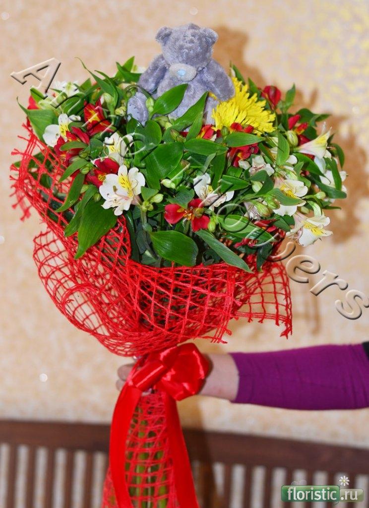 Как упаковывать цветы в сетку своими руками 58
