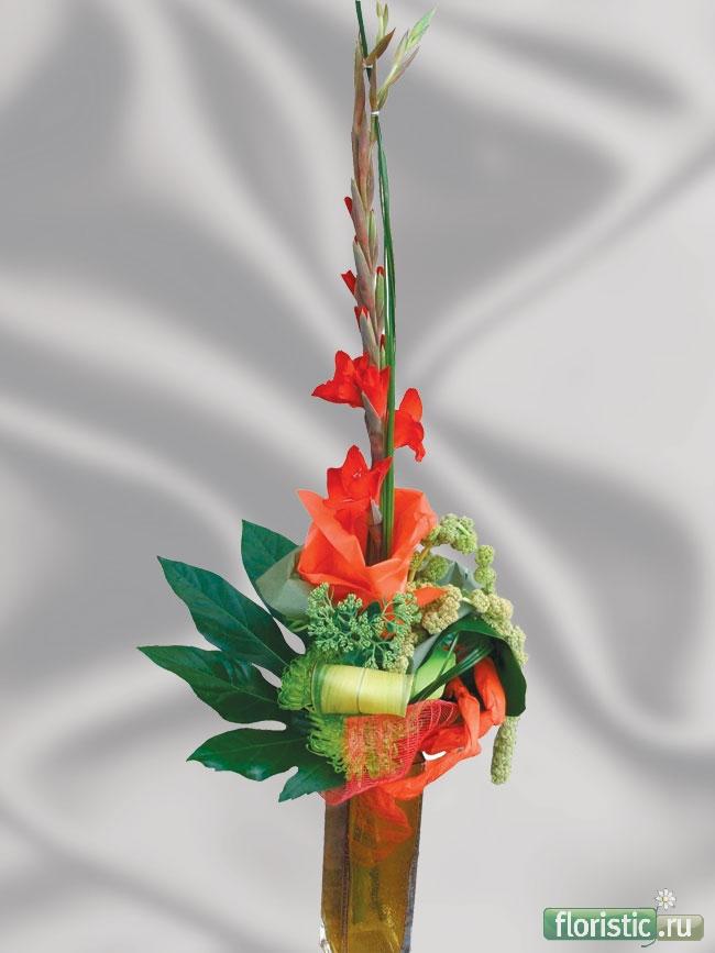 Красивые букеты из гладиолусов на 1 сентября своими руками