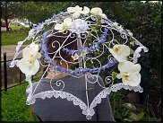Флористический каркас из ротанга шляпа