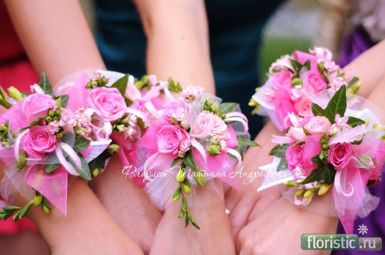 Как сделать букет из цветов на руку