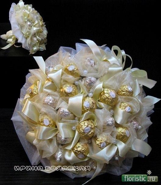 Свадебный букет из конфет своими руками мастер класс