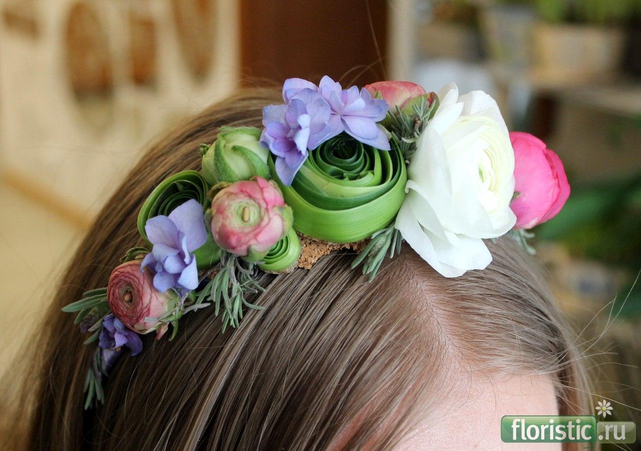 Цветы на голову своими руками фото