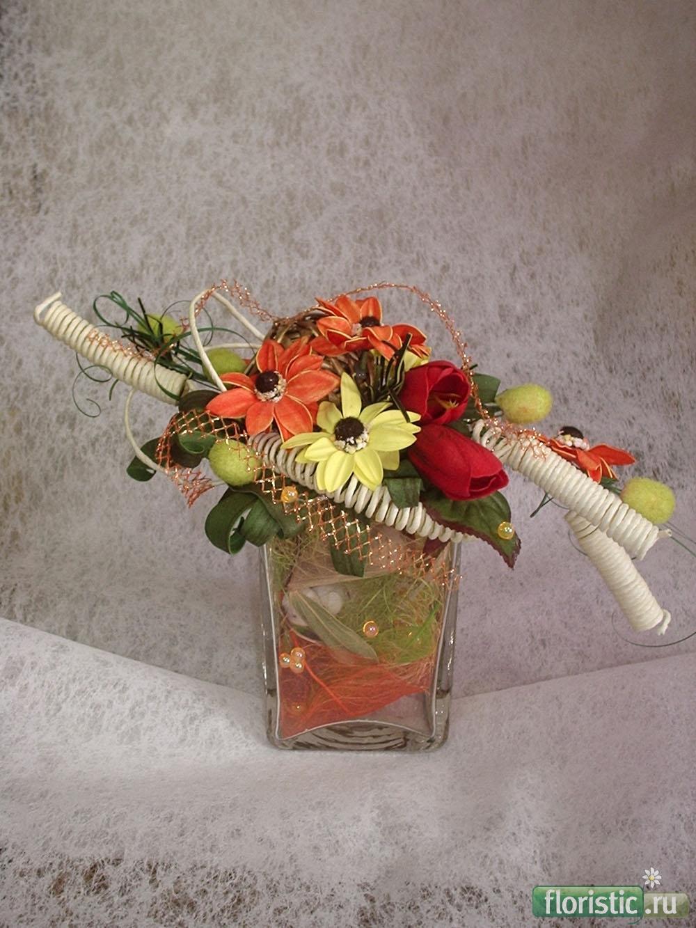 Композиции из сухоцветов с фото